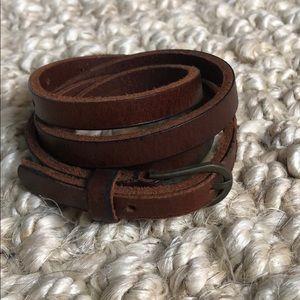 Brown skinny belt (s)